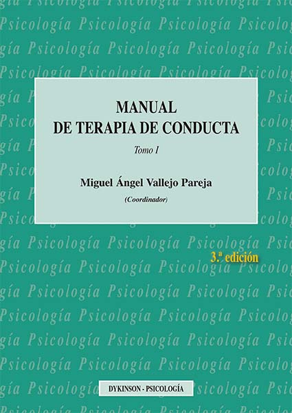 Manual de Terapia de Conducta. Tomo I